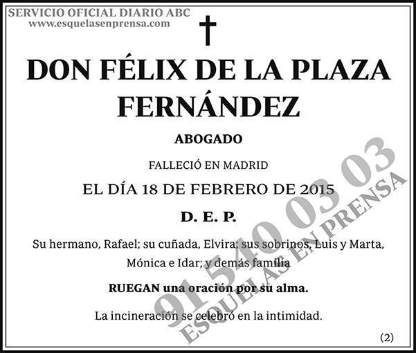 Félix de la Plaza Fernández